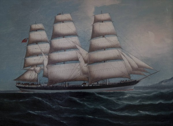 An english 3 mast clipper